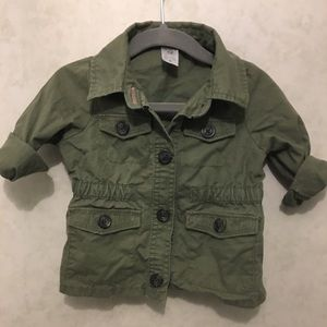 Carters army green utility jacket